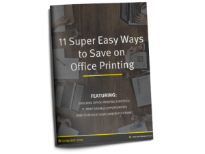 11 Super Easy Ways to Save on Office Printing E-Book